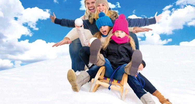 Nieve en familia Mendoza