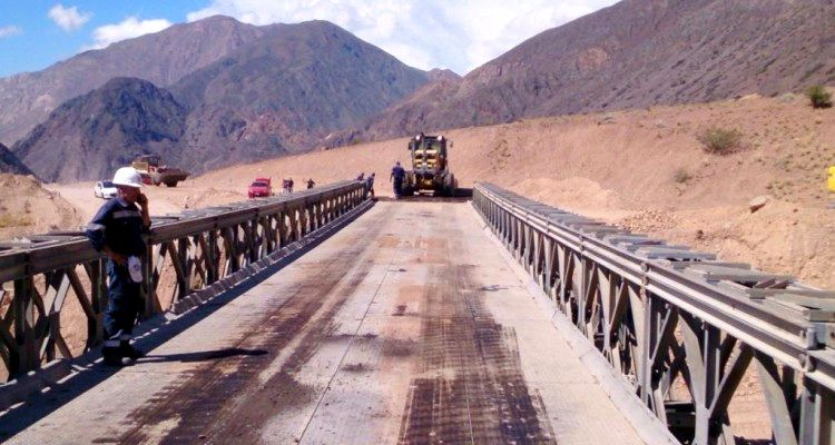 Cruce a Chile, puente Bailey