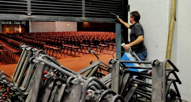 Reparaciones en el Centro de Congresos