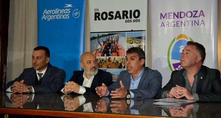 Firma de convenio entre Rosario y Mendoza