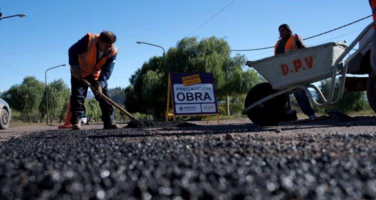 Obras viales en Mendoza
