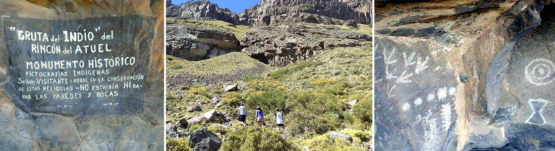 Cueva del Indio del rincón del Atuel